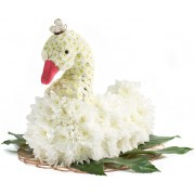 Лебедь из цветов